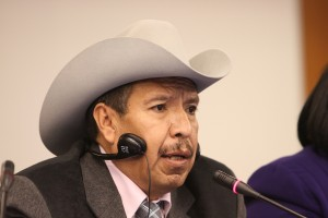 Juan Martinez, a former Nebraska meatpacking worker, testified to the Inter-American Commission on Human Rights in Washington on March 25. Photo courtesy Scott Stark/Appleseed Network