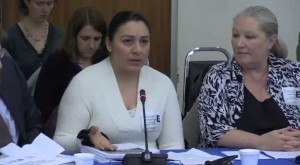Former Nebraska poultry worker Teresa Martinez told the IACHR about the injuries she suffered working more than four years in a Nebraska poultry plant.