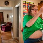Because of Ehlers-Danlos, Cindy must use a feeding tube to ensure that she gets proper nutrition throughout the day.