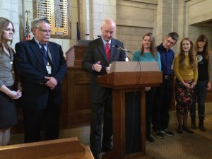 "Governor Pete Ricketts signed a proclamation on January 14, 2015 designating January as ""Human Trafficking Awareness Month."""