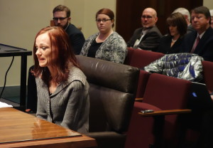 Lincoln resident Amanda Gerson told the committee she is unable to afford the health coverage she needs to treat autoimmune disease.