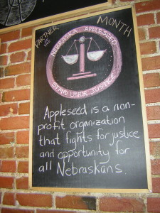 Getting coffee and Urban Abbey in June supports Appleseed's fight for justice and opportunity for all.