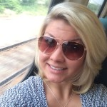 Samantha Swinarski is a law clerk in Appleseed's child welfare program. This is a selfie she took on a train.