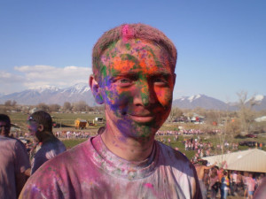 Appleseed intern Chuck Smart (shown here after finishing a Color Run) is a UNL law student from Twin Falls, Idaho.