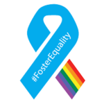 A foster equality ribbon created by the Human Rights Campaign.