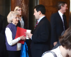 Nearly 70 Nebraskans came to the Capitol to urge their State Senators to support LB 1032.