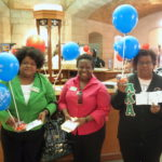 Members of the Psi Chi Omega chapter of AKA delivered balloons to State Senators during a Medicaid expansion advocacy day.