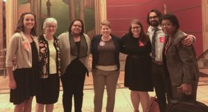 This group of Nebraskans attended the CFPB hearing in Kansas City to support stronger payday lending reforms.