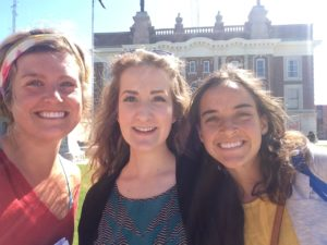 From Left: Organizer Kait Madsen, Child Welfare program associate Becca Brune, Weitz fellow Tori Ostenso.