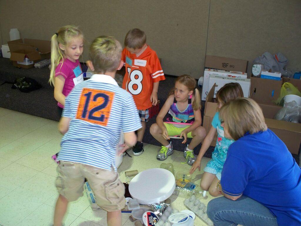 Students doing an after school activity in a Nebraska program.