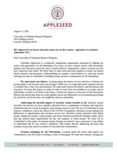 UN Board of Regents Letter